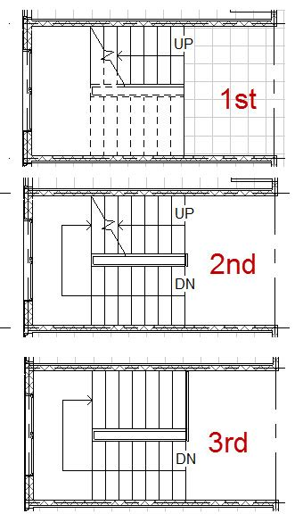 how to draw stairs in a floor plan solved stairs below level how do i add a cut line