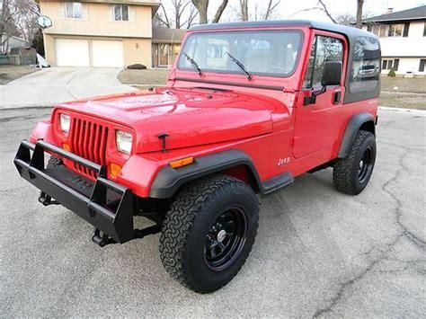 jeep wrangler 4 cylinder for sale find used 1995 jeep wrangler 4 cylinder 5 speed