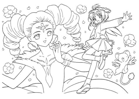 Cardcaptor Coloring Pages by Card Captor Coloring Pages Coloring Book