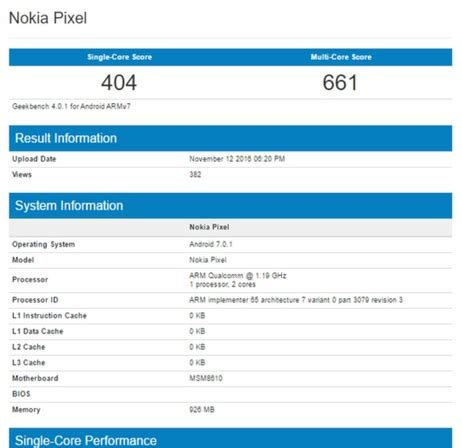 mobile phone benchmark nokia pixel entry level android smartphone spotted at