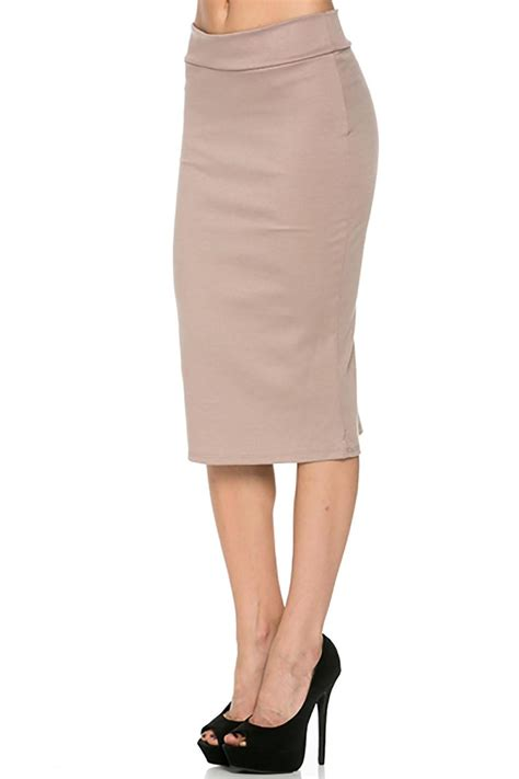 azules beige pencil skirt from pennsylvania by empire