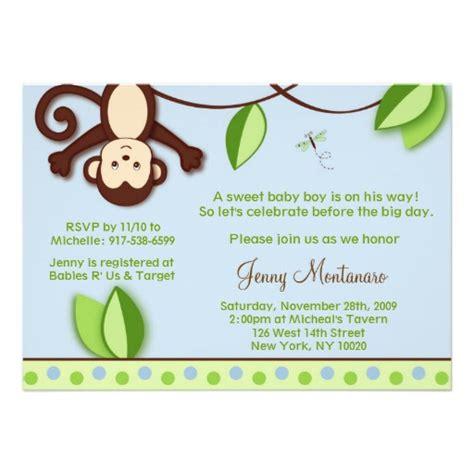baby shower monkey invitations monkey jungle baby shower invitations zazzle