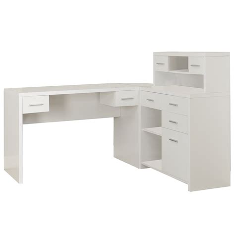 monarch specialties hollow l shaped home office desk white hollow l shaped home office desk shelving com