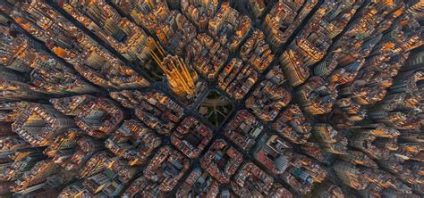 barcelona from above damn barcelona is trippy from above