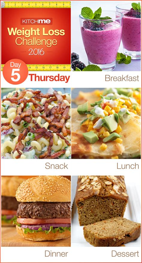 5 weight loss meals day 5 meal plan weight loss challenge recipes for weight
