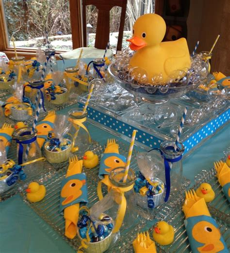 Rubber Duck Decorations by Rubber Duck Themed Baby Shower Shelley Beatty