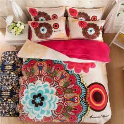Fleece Bedding Duvet Sets 2016 Winter Fleece Bedding Set Flower Flannel Duvet Cover