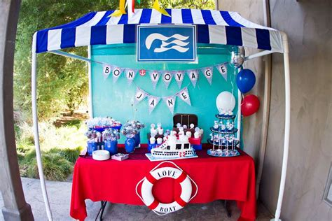party themes on a boat nautical cruise ship the love boat farewell party party