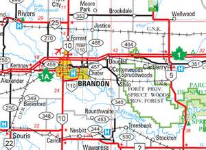 map of brandon florida manitoba city and town maps brandon
