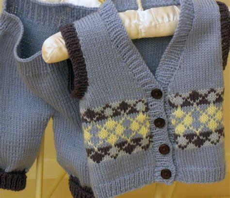 Baby Vest In Argyle Pattern By Oge Designs