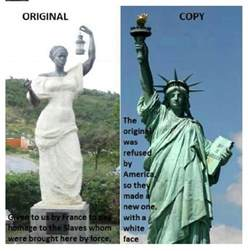 Original Colour The Original Statue Of Liberty Presented To The U S Was A