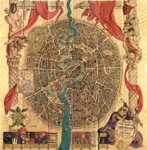 a map of the the searchers books map of ankh morpork books terry o quinn