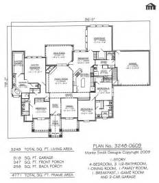 One Story Two Bedroom House Plans by 3248 0609 Square Feet 4 Bedroom 1 Story House Plans