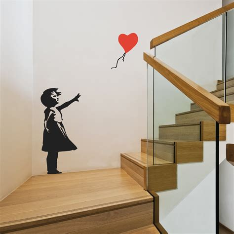 banksy wall stickers banksy balloon wall stickers
