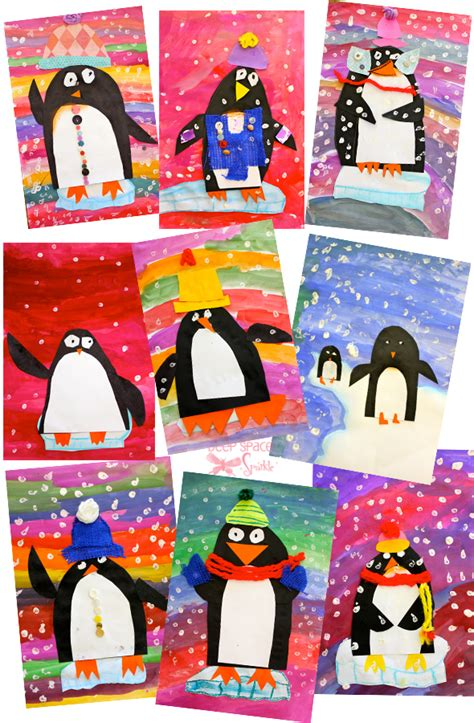 1st grade christmas art projects penguin project space sparkle