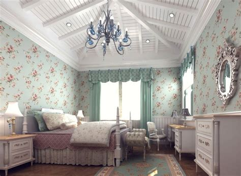 country bedroom wallpaper rendering american country bedroom wallpaper and curtains