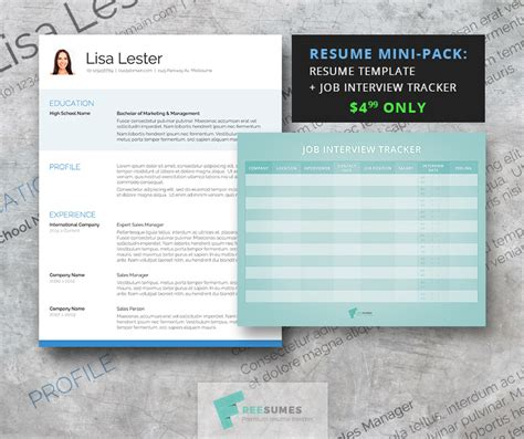 the attention grabber resume template mini pack