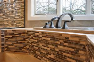 Spa Tubs For Bathroom - glass amp ceramic tile shower tub surround contemporary bathroom richmond by criner remodeling