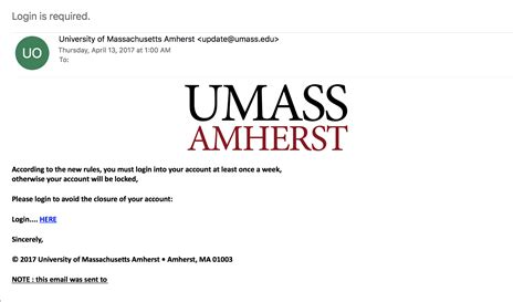 Umass Amherst Mba Employment Data by Security Alert Phishing Scam Targets Umass Amherst