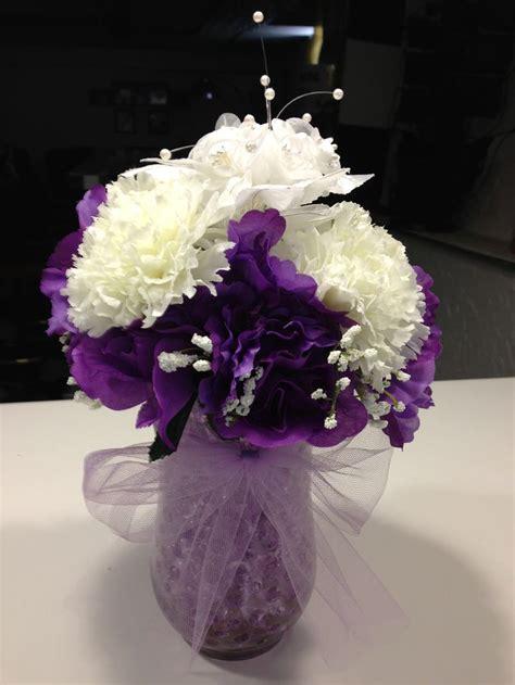 purple water centerpieces pin by ena rodarte on wedding