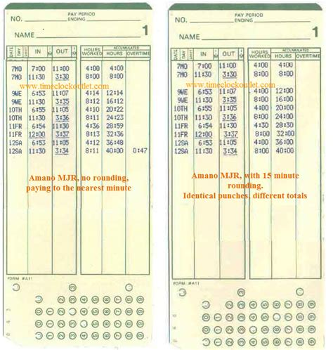 time clock punch card template time clock outlet amano mjr time cards 1000 mjr cards bx