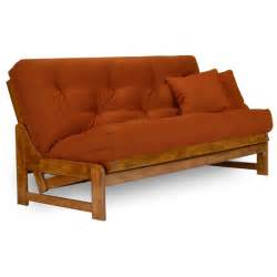 armless size futon sofa bed frame medium oak wood frame