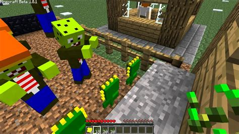 mod game plant vs zombie minecraft mod review plants vs zombies youtube