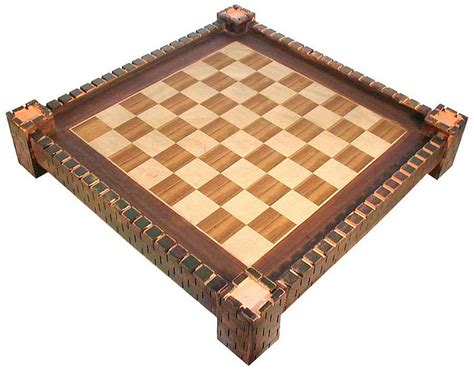 chess board design wooden chess board with medieval fortress design