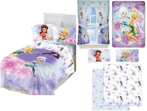 Kids Girls Disney Fairies Tinker Bell Bedding Bed In A Bag Disney Fairies Bedding Set