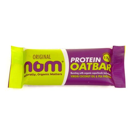 1 protein bar a day nom protein oat bar total workout