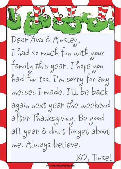 printable elf arrival letter tinsel s good bye elves shelves and google search