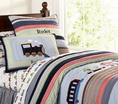 train bedding twin new pottery barn kids ryder train quilted bedding twin