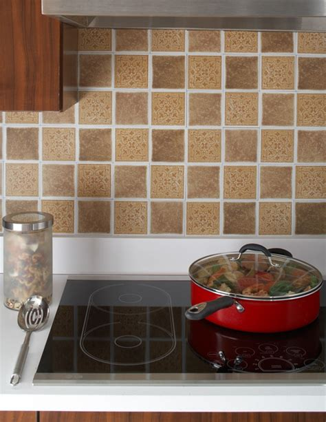 self stick backsplash tile peel and stick mosaic backsplash decozilla