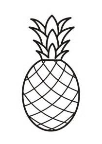 pineapple coloring pages getcoloringpages