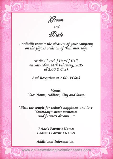 Wedding Invitation Card How To Write by Wedding Invitation Card Sle Sunshinebizsolutions