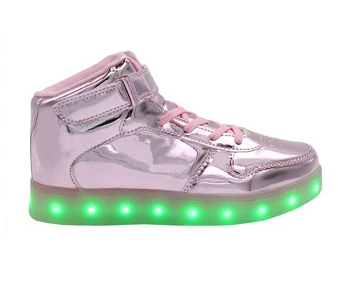 galaxy led shoes light up charging high top s