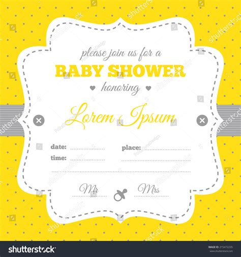 Little Mermaid Birthday Invitations Free Hot Girls Wallpaper Yellow And White Baby Shower Invitation Templates