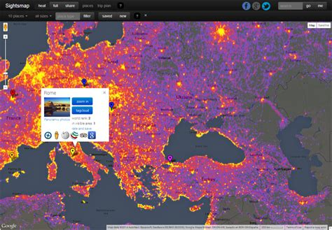 sights map sightsmap photographed locations in the world see the