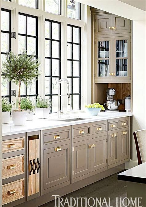 taupe kitchen cabinets  images traditional kitchen
