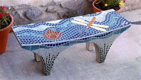 mosaic garden bench beautiful by scarab glass works like the wide spacing