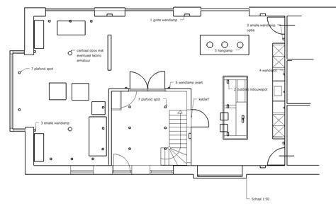 indeling spotjes woonkamer verlichtingsplan