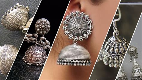 Kaos Silver New Design new silver plated jhumka designs between rs 75 rs 350