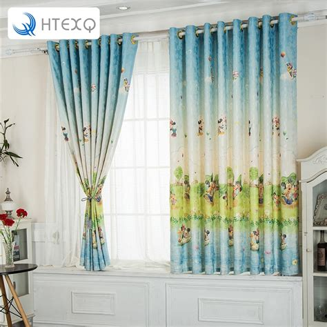 modern children curtain cartoon mickey mouse  curtain window shades curtains bedroom finished