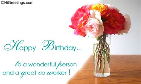 Happy Birthday Wishes Coworker Send Ecards Boss Colleagues Great Co Worker