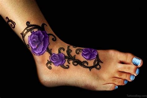 violet and rose tattoo 41good looking tattoos for ankle
