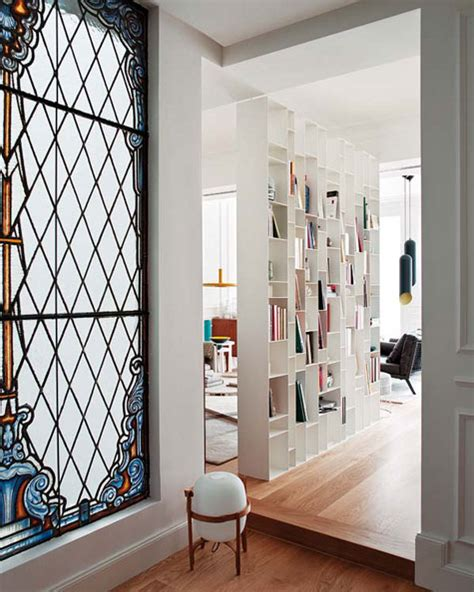 amazing bookcase divider wall