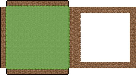 Minecraft Papercraft Grass - papercraft 10x10 minecraft grass block for 3d scenery