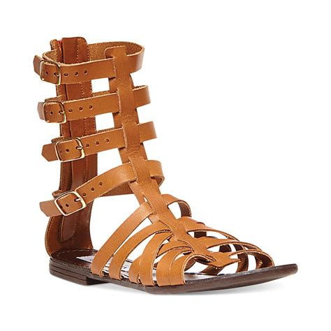 gladiator womens sandals steve madden womens ceaserr flat gladiator sandals in