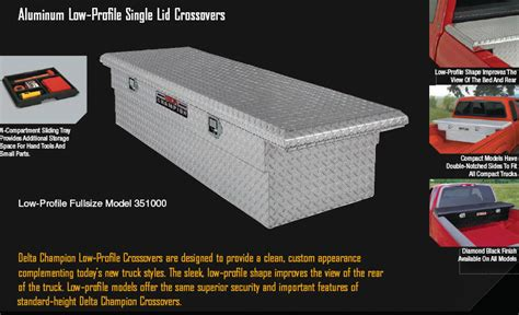 pickup truck tool boxes low profile tool box for trucks delta low profile crossover tool boxes