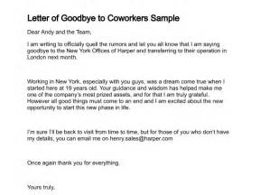 last day at work email template letter of goodbye